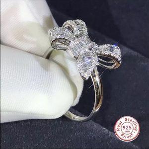 NWT 925 Silver Sparkling Big Bow Ring